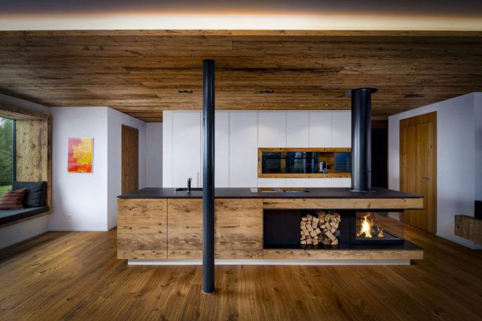Holz, Holzbau, Küche, Küchenbau, Feuerstelle